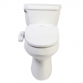 Clear Water Bidets, Novita BN-330 Bidet Toilet Seat mounted on toilet, lid closed.