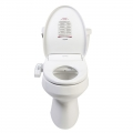 Clear Water Bidets, Novita BN-330 Bidet Toilet Seat mounted on toilet