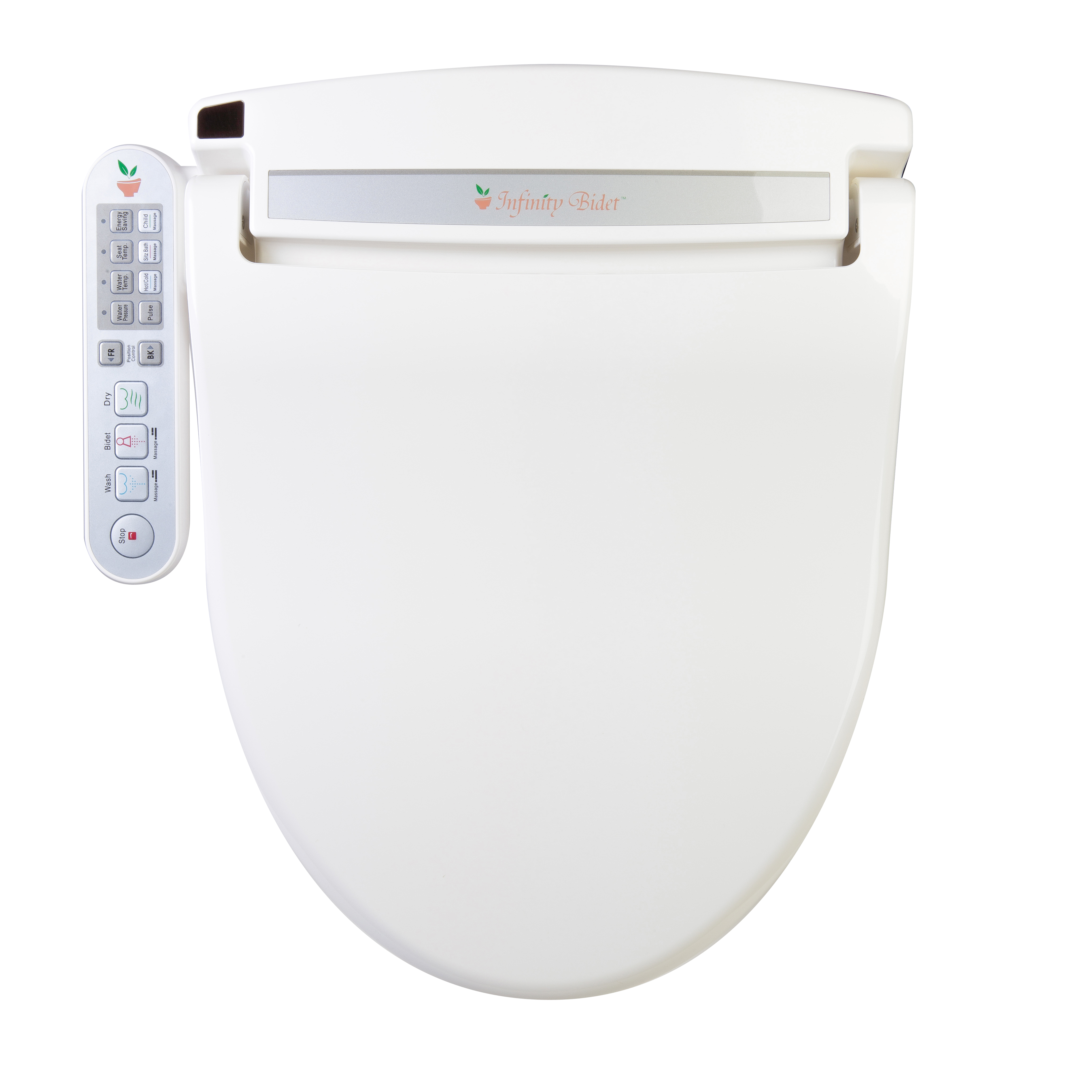 Clear Water Bidets  Infinity XLC 2000 Bidet Seat top view. Infinity XLC 2000 Bidet Toilet Seat   Best Bet to Heal You