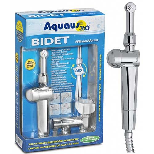 Aquaus 360 bidet sprayer box